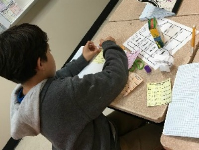SMA's 5th Graders Build Math Interactive Notebooks
