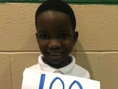 1st Grader Joins Accelerated Reader 100 Point Club