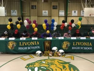 LHS Wildcats Sign to Play Football on the Next Level