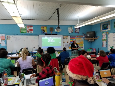 Teachers Learn about New Technology at Rosenwald