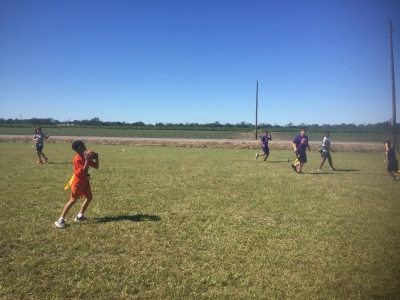 STEM Students Learn Flag Football