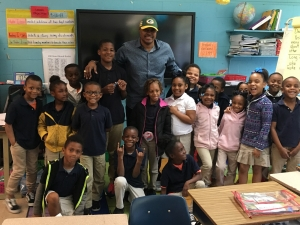 Former NFL Player Visits Rosenwald