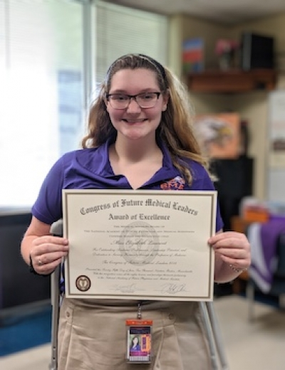 STEM Student Attends Congress of Future Medical Leaders
