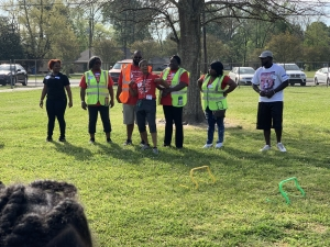 Rosenwald Students Jump in Honor of Mr. Marlon Jones