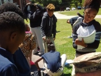 Students from Rosenwald Visit Starbase