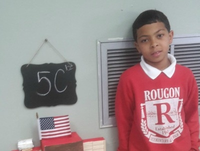 5th Grader at Rougon Designs School of the Future