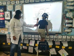 Rosenwald's First Graders Treated to a Special Lesson
