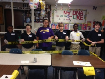 Special Education Students at Rougon Become Crime Scene Investigators